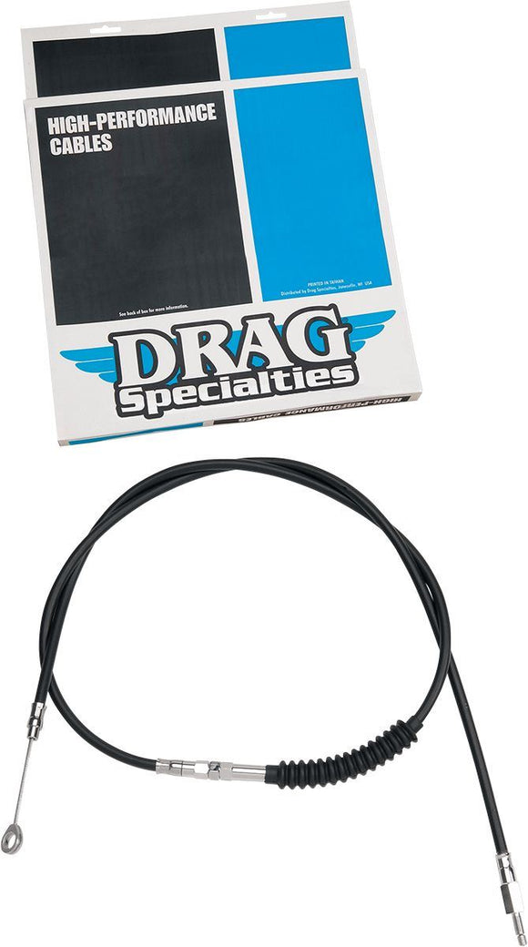 Drag Specialties Clutch Cable High Efficiency Black Vinyl 62 11/16