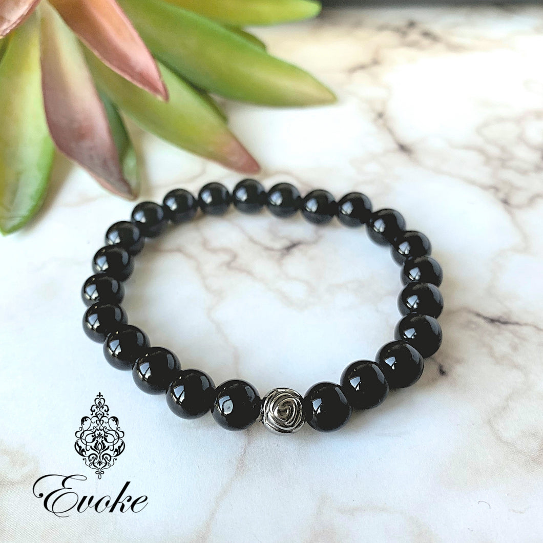 Truth Seeking Obsidian Bracelet - Evoke by Suhita
