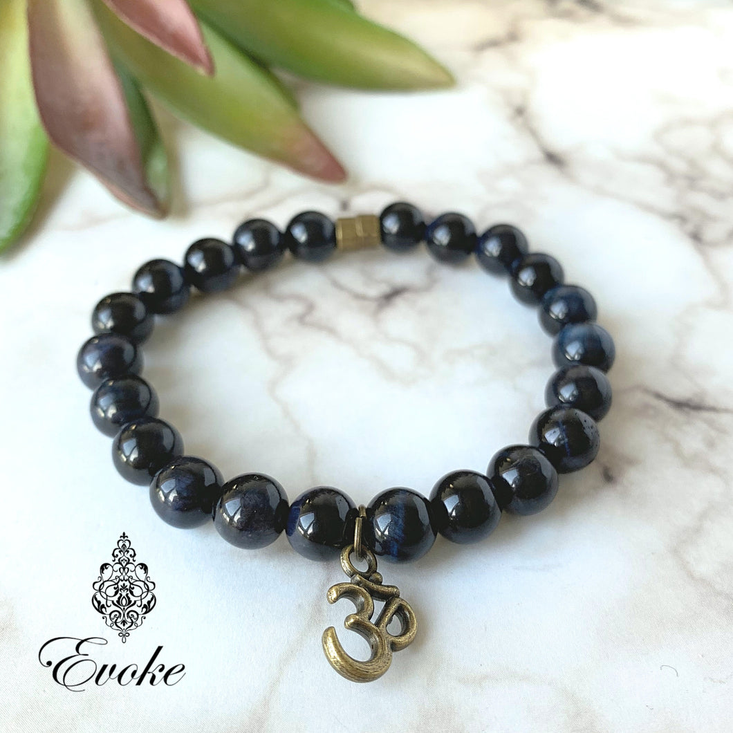 Soothing Blue Tiger's Eye Bracelet - Evoke by Suhita