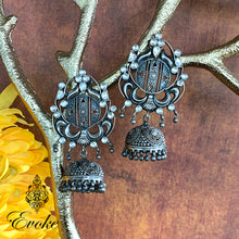 Silver and Kundan Temple Jhumkas