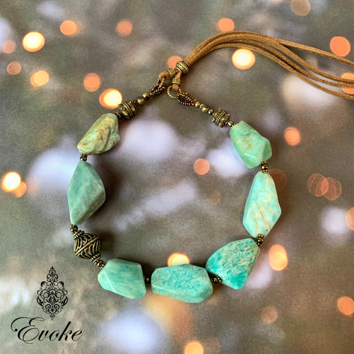 Amazonite Nugget Adjustable Necklace