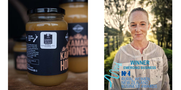 multi-award winning honey. Farmers Market New Zealand Winners. Rural Women NZ Business Awards winner