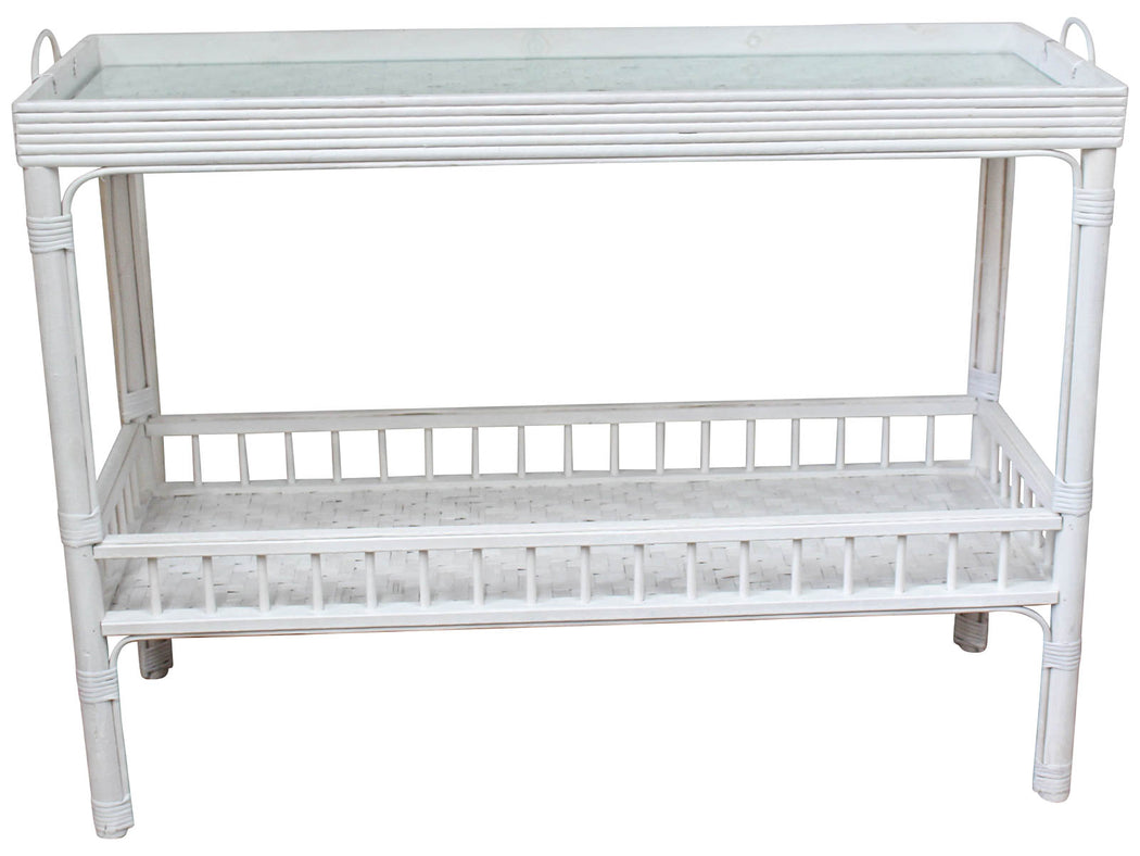 Bahama Medium White Wash Console