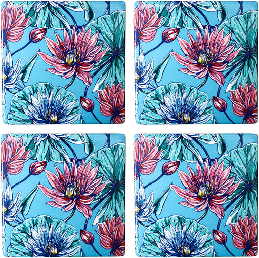 Coasters Blue Lily