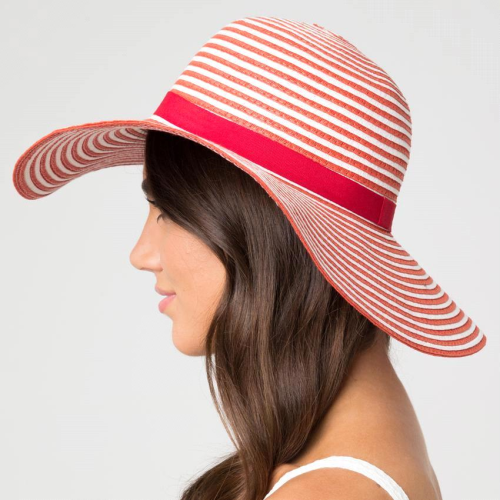 HAT FLOPPY PAP RED/WHT