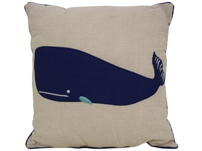 Cushion Navy Whale