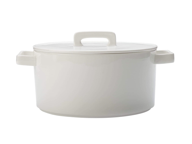 Epicurious Round Casserole 2.6L White Gift Boxed
