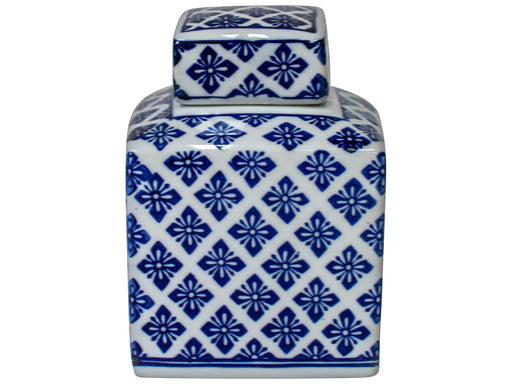 Jar Tall Square Motif