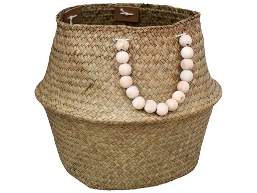 Belly Basket Natural/Beads