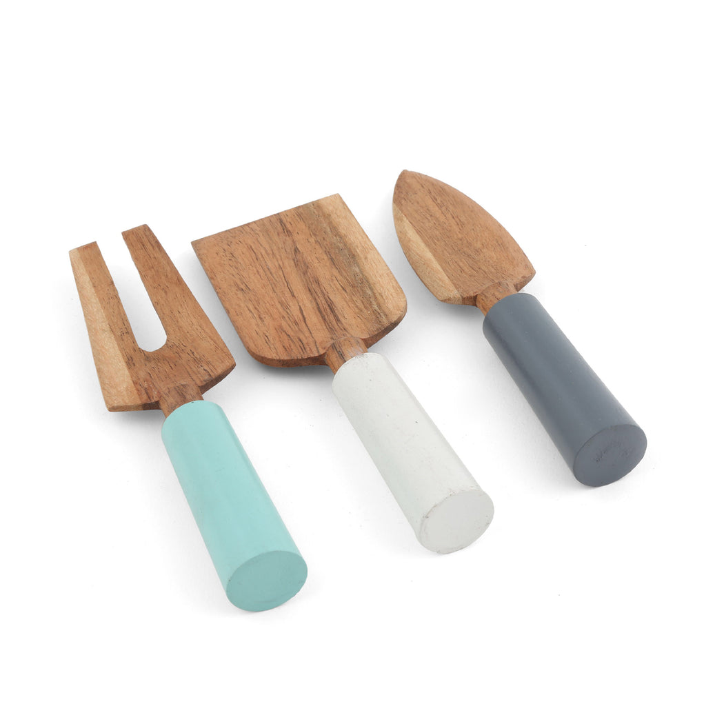3 piece Wood Cheese Set