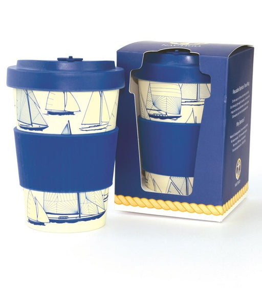 Bamboo Travel Mug-400ml-NautiGo 'Sail Away'