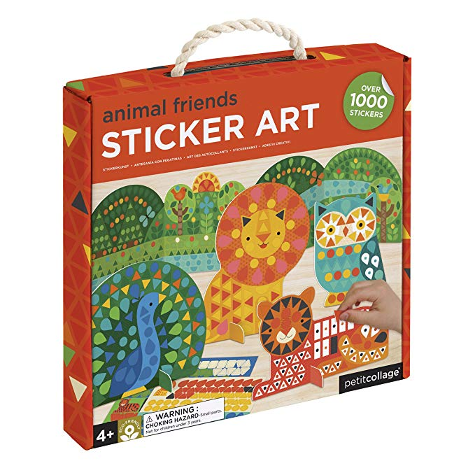 Animal Friends Sticker Art Kit