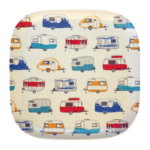 Bamboo Plate 22cm - Coloured Caravans