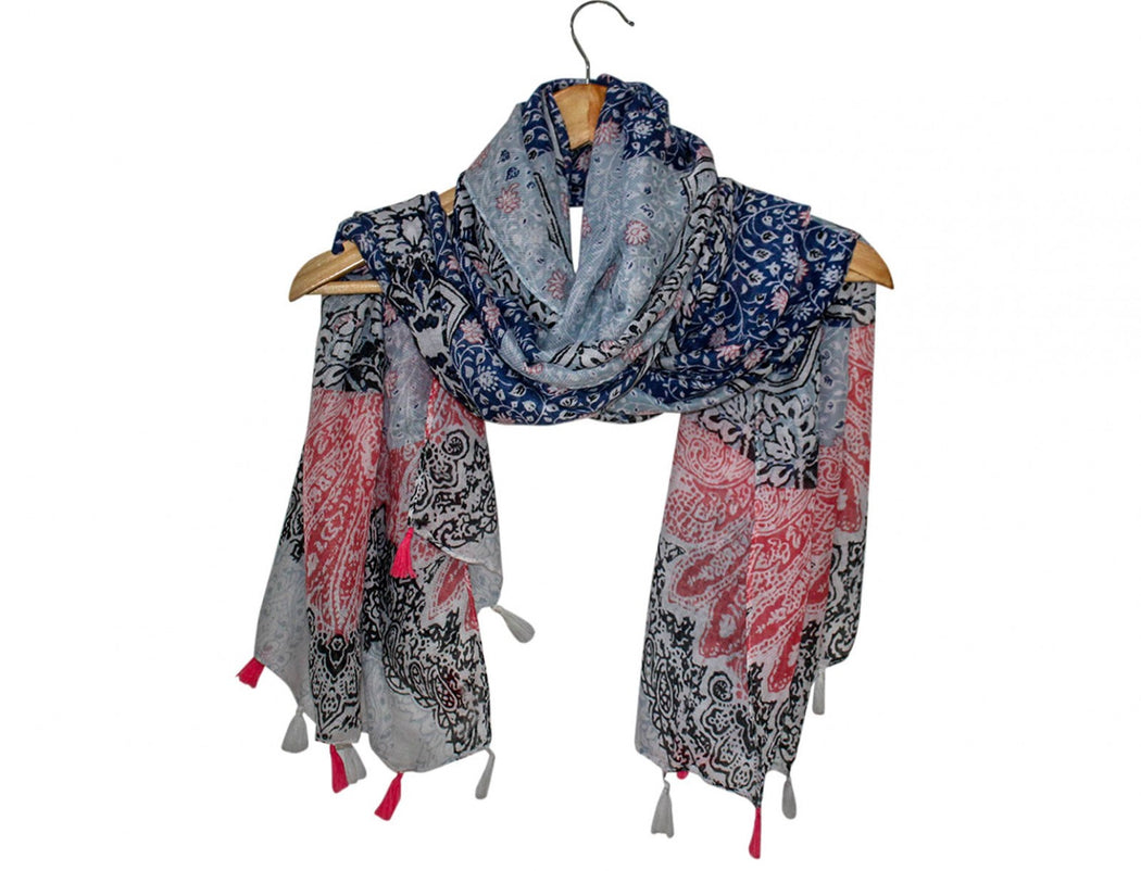 Scarf Willow Navy