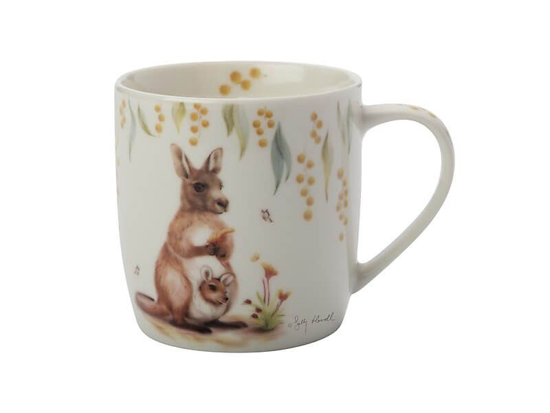 MW Sally Howell Mug 340ML Kangaroo Joey Gift Boxed