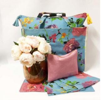 Monet Blue Flower Hamper