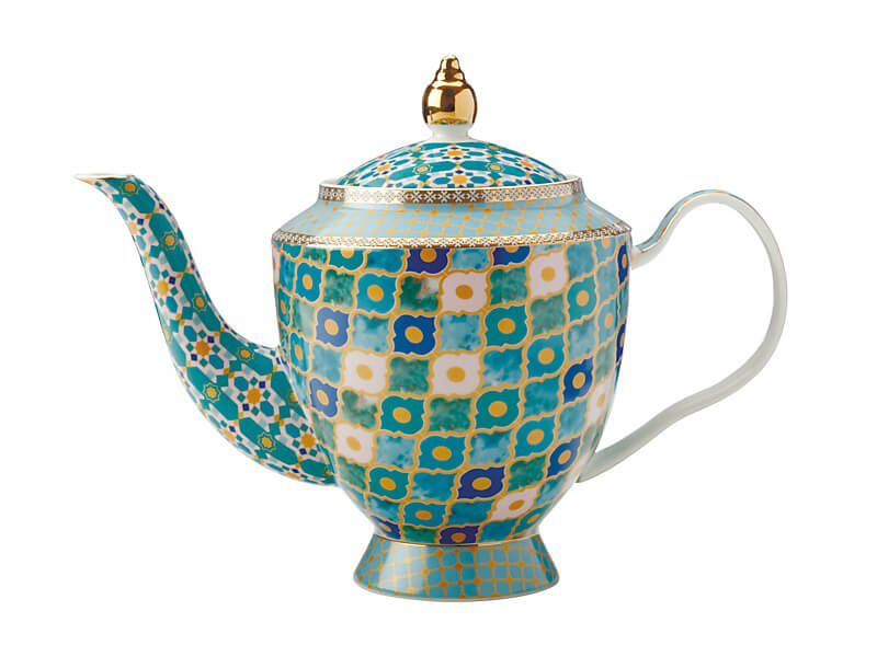 MW Teas & C's Kasbah Teapot with Infuser 1L Mint Gift Boxed