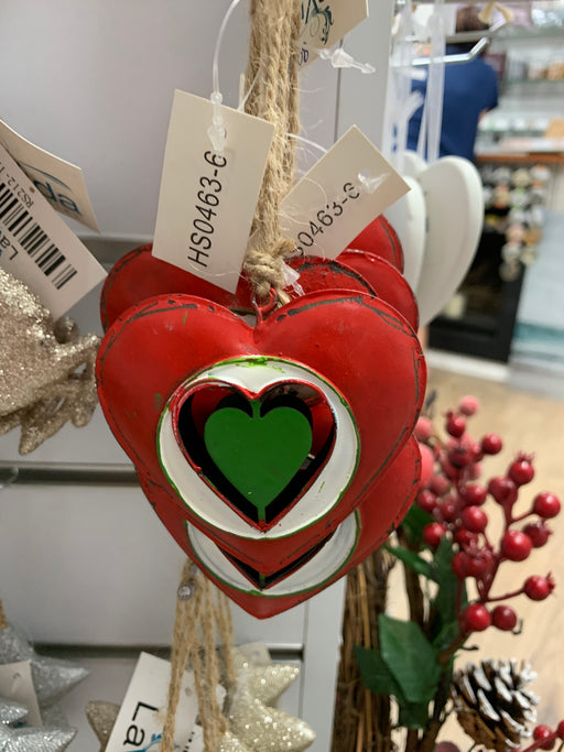Hanging Heart Red Green