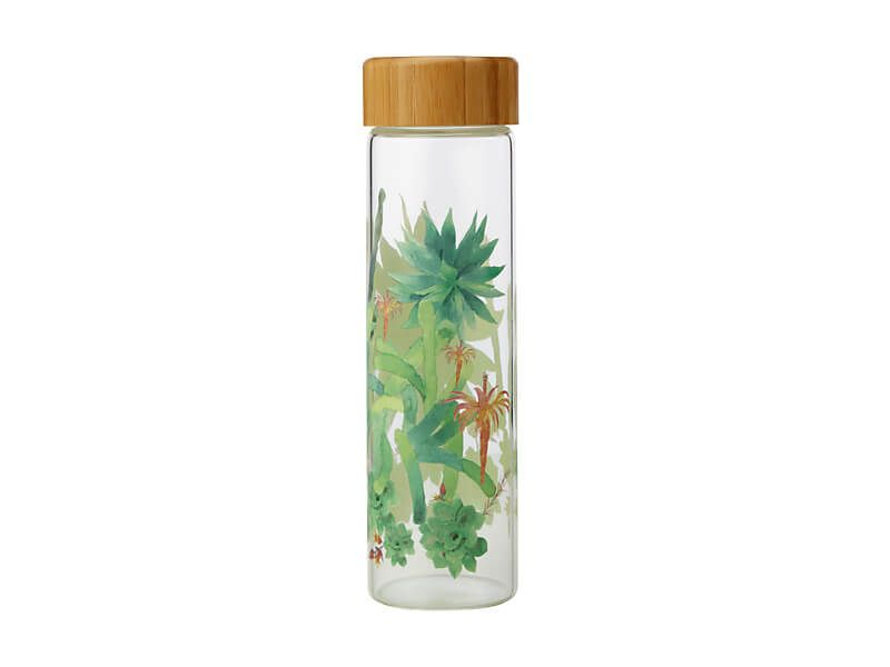 MW Royal Botanic Garden Arid Garden Glass Water Bottle 550ML Agave