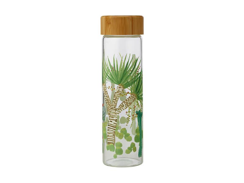 MW Royal Botanic Garden Arid Garden Glass Water Bottle 550ML Dracaena