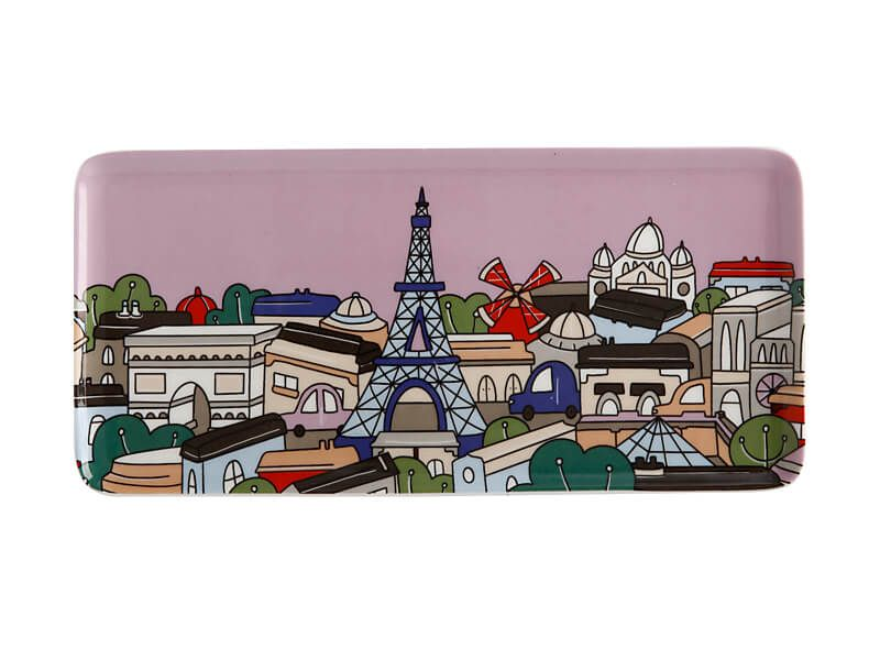 Megan McKean Cities Rectangular Plate Paris