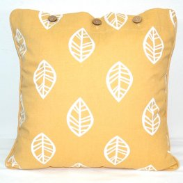 Leaf Mustard Scatter Cushion Cover 40x40cm