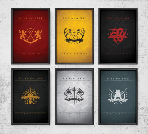 Game of Thrones House Art