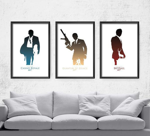007 Daniel Craig Series Posters- The Pixel Empire