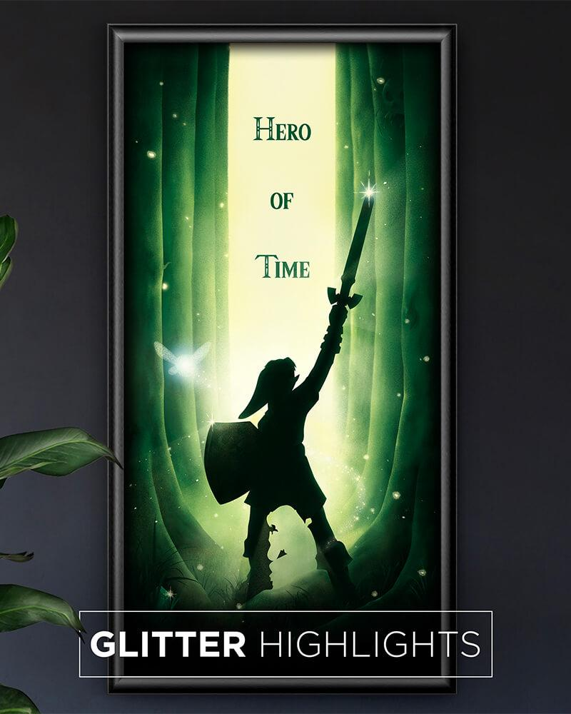 Hero of Time - Glitter Highlights Posters by Dylan West - Pixel Empire