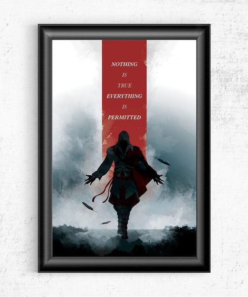 Assassin's Creed - Nothing is True Posters- The Pixel Empire