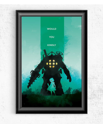 Bioshock - Would You Kindly Posters- The Pixel Empire