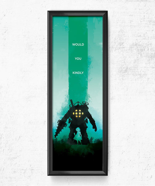 LIMITED Bioshock - Would You Kindly Posters by The Pixel Empire - Pixel Empire