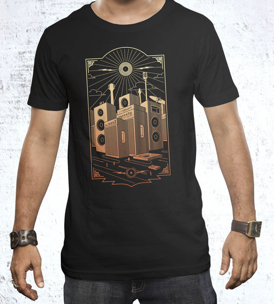 Sound City Men's Shirt by Grant Shepley - Pixel Empire