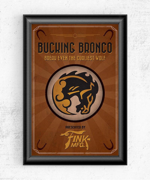 Bioshock Vigor Bucking Bronco Posters by The Pixel Empire - Pixel Empire