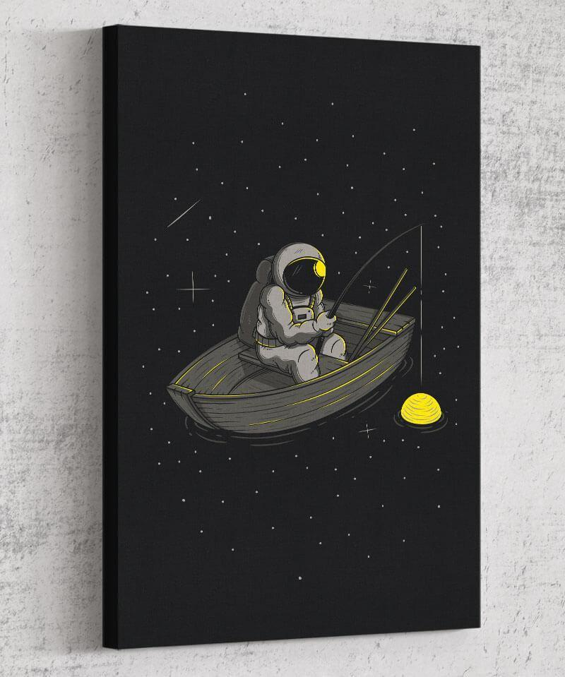 Lonely Fishing Canvas by Elia Colombo - Pixel Empire