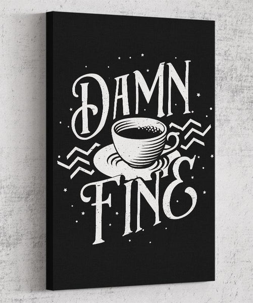Damn Fine Coffee Canvas by Barrett Biggers - Pixel Empire