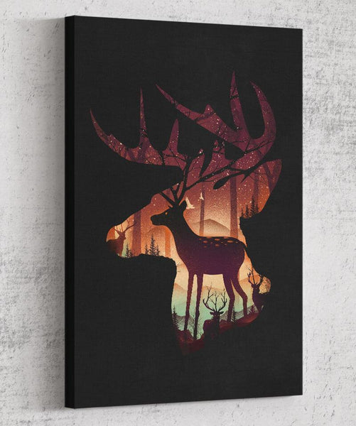 Deer Forest Canvas by Dan Elijah Fajardo - Pixel Empire