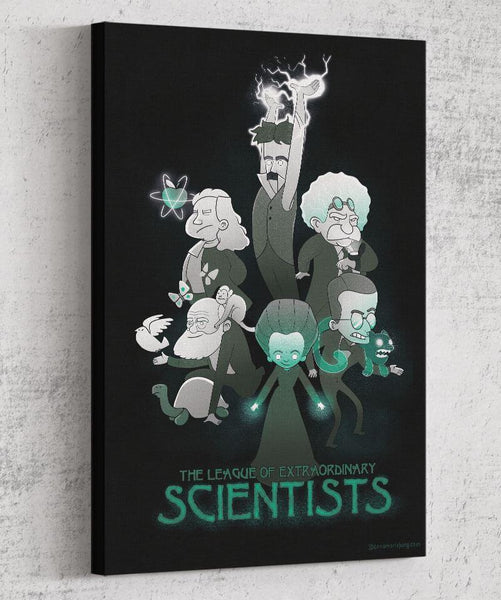 League of Extraordinary Scientists Canvas by Anna-Maria Jung - Pixel Empire