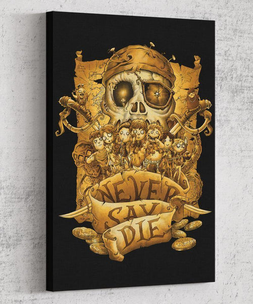 Never Say Die Canvas by Saqman - Pixel Empire