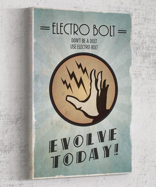 Bioshock Plasmid Electrobolt Canvas by The Pixel Empire - Pixel Empire