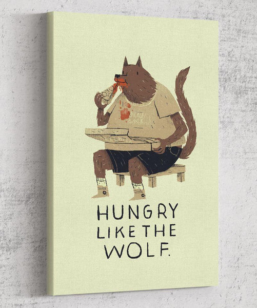 Hungry Like the Wolf Canvas by Louis Roskosch - Pixel Empire