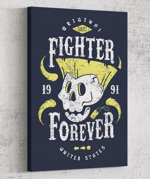 Fighter Guile Forever Canvas by Olipop - Pixel Empire