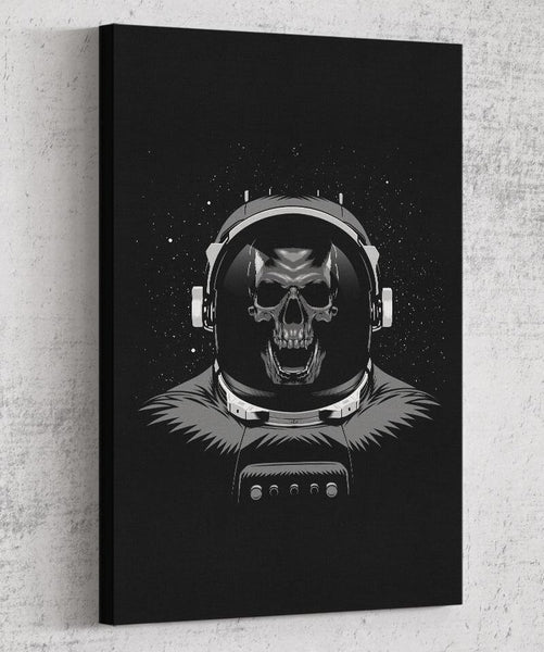 Skull Astronaut Canvas by Alberto Cubatas - Pixel Empire