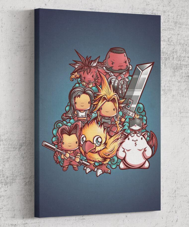 Cute Fantasy VII Canvas by Juan Manuel Orozco - Pixel Empire