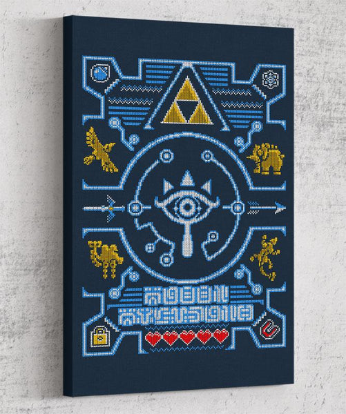 Ugly Sheikah Sweater Canvas by Punksthetic - Pixel Empire