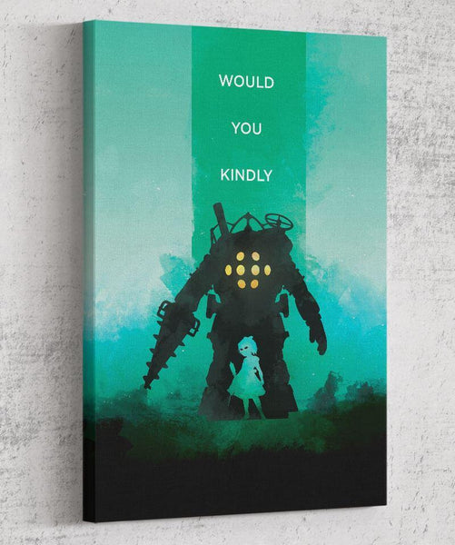 Bioshock - Would You Kindly Canvas by The Pixel Empire - Pixel Empire