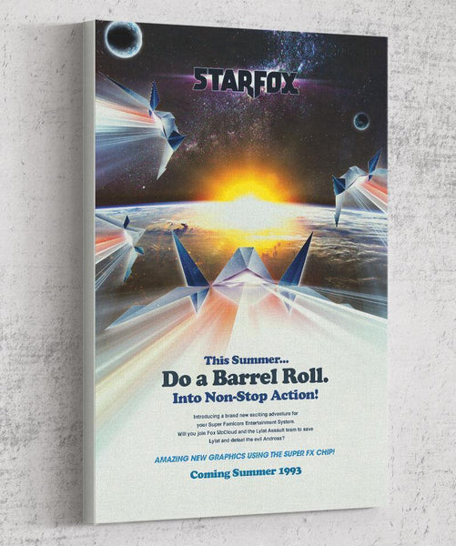 Do a Barrel Roll Canvas by Barrett Biggers - Pixel Empire