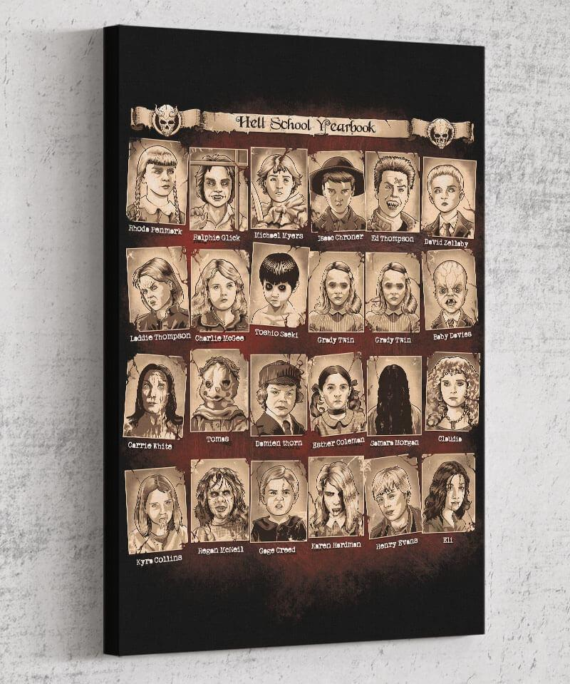 Hellschool Yearbook Canvas by Saqman - Pixel Empire