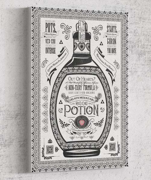 Red Potion Canvas by Barrett Biggers - Pixel Empire