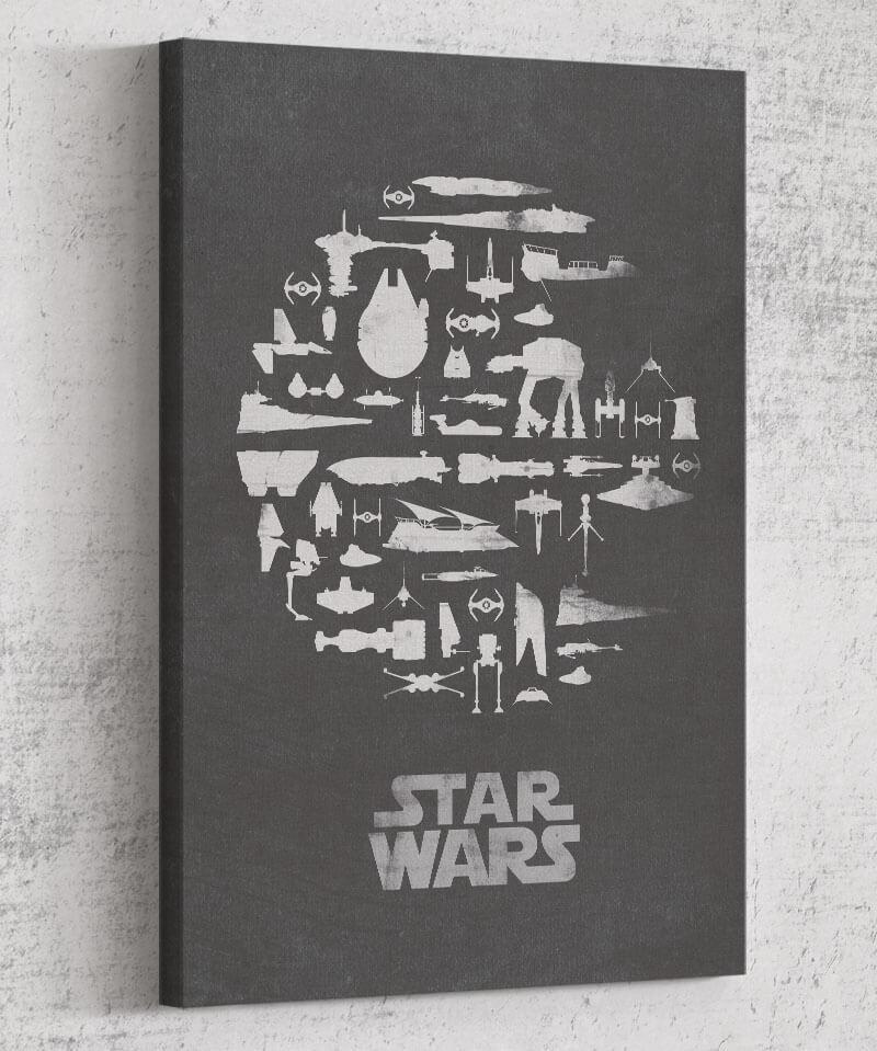 That's No Moon Canvas by Dylan West - Pixel Empire